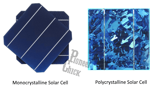 Monocrystalline solar cell vs polycrystalline solar cell used in solar panels