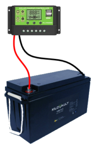 connecting charge controller to battery